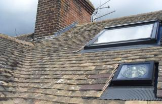 Velux, Sun Tunnel, Lead Flashing on Chimney