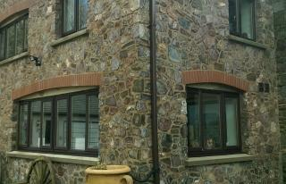 Stone clad extension