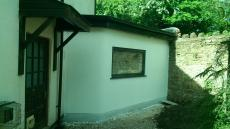 Side en-suite extension with feature curved wall